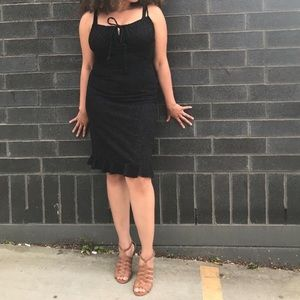 La Belle Black Spagetti Strap Dress